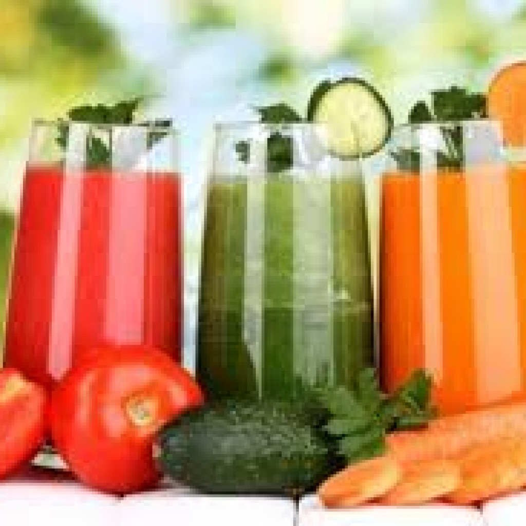 red, gree and orange coloured vegetable juices